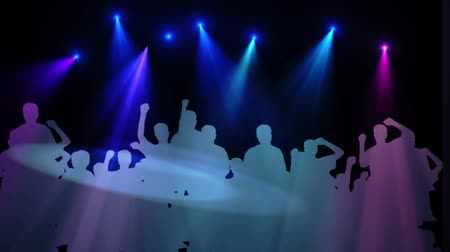 boates : Young People Dancing at a Nightclub Silhouette