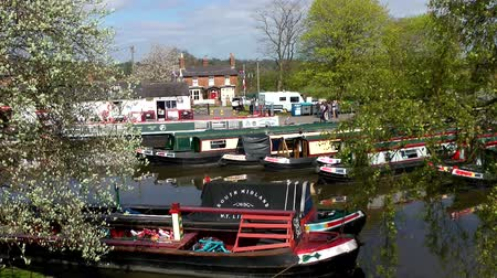 holiday makers : Narrow Boats - Norbury Junction, Staffordshire, England
