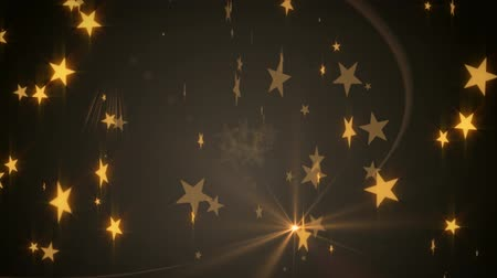 shiny : Golden Chocolate Stars Abstract Background