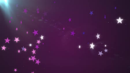 desvanecer : Purple Stars Abstract Motion Background
