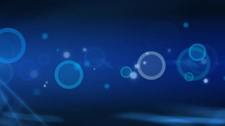 brilhando : Blue circles and dots abstract background