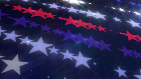 star shape : American Stars Abstract Motion Background Stock Footage