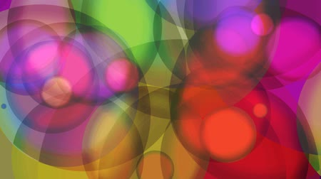 psicodélico : Multicolored Glowing Circles Abstract Motion Background