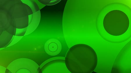 psicodélico : Green Glowing Circles Abstract Motion Background