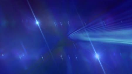 质地 : Blue Curved Lines and Lens Flares 影像素材
