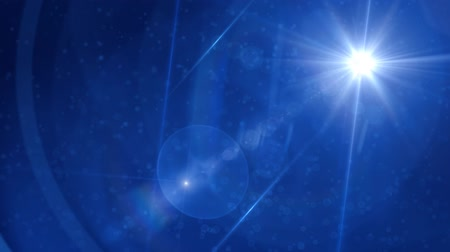 Blue Lens Flare Abstract Background
