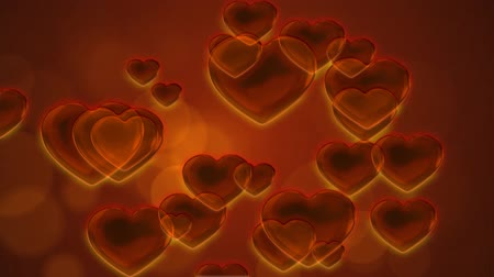 orange : Orange Hearts Abstract Motion Background