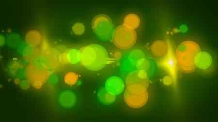 bright bubble : Green Yellow Bokeh Abstract Motion Background