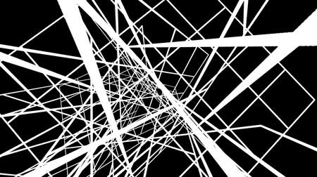 ruído : Chaotic Random White Lines Abstract Motion Black Background