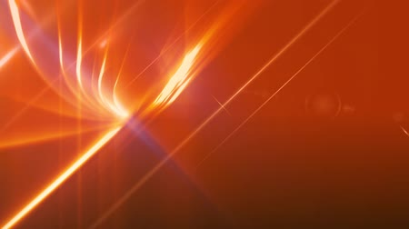 âmbar : News Style Background - Orange Abstract Motion Background with Lines and Lens Flares