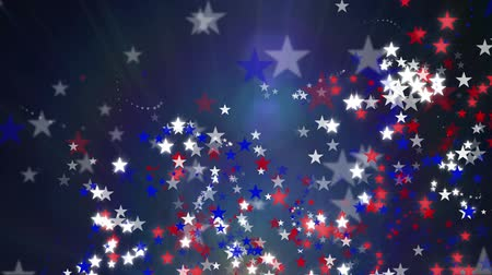 psicodélico : Red White and Blue Stars Background