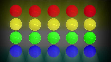 rasgele : Abstract Animated Random Flashing Multi Colored  Lights For Music Videos Stok Video