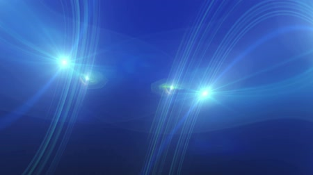 oŚwietlenie : Blue Lens Flare And Vector Lines Animation Abstract Background