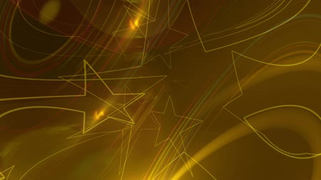 質地 : Animation of Golden Orange Lens Flares And Vector Lines Abstract Background