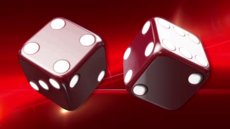 dobókocka : Red Casino Dice Red Background Animated Computer Design Abstract Background