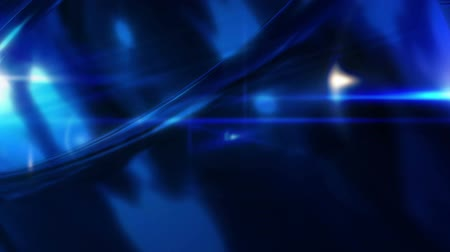 Breaking News Style Rotating Abstract  Shape with Lens Flares Abstract Blue Background