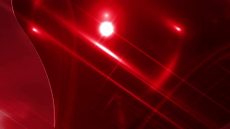 oŚwietlenie : Breaking News Style Lens Flares Abstract Moving Red Background Wideo