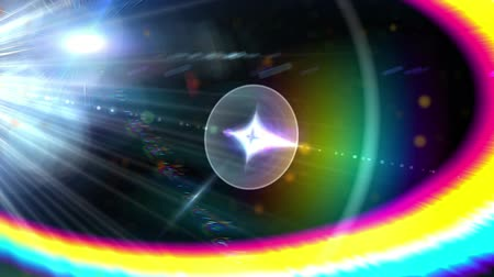 質地 : Colorful Optical Flare With Abstract Particle Motion Background