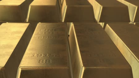 bringing home the bacon : 3d Gold ingot bars animation