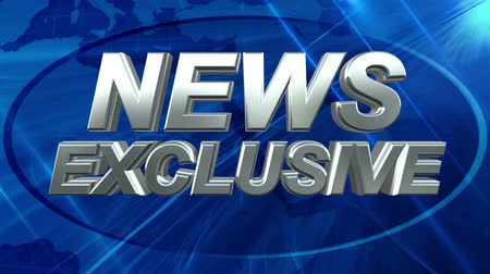 news tv : News Exclusive - News Title Blue Background