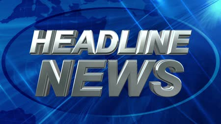news tv : Headline News - News Title Blue Background