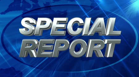 duyuru : Special Report - News Title Blue Background Stok Video
