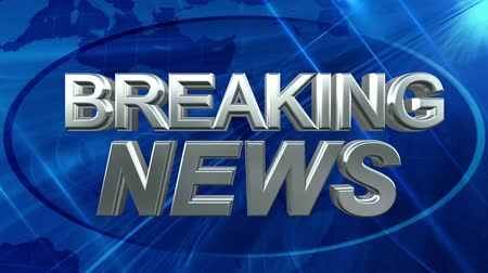 news tv : Breaking News - News Title Blue Background
