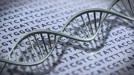 ДНК : DNA technology helix strands science technology animated background