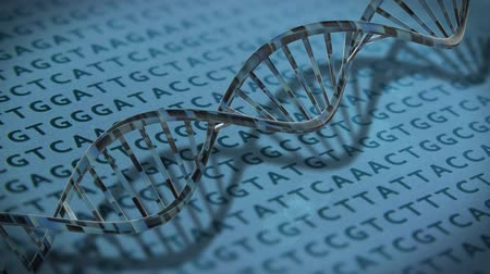 code : DNA technology helix strands science technology animated background