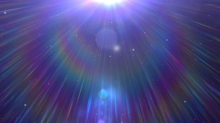 поход : Star Field animated motion background of star field and lens flares Стоковые видеозаписи