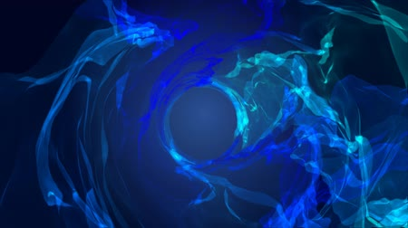 oblouky : Abstract background blue tunnel particles