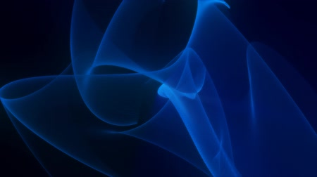 düzgün : Smooth Flowing Blue Light Streaks Abstract Motion Black Background
