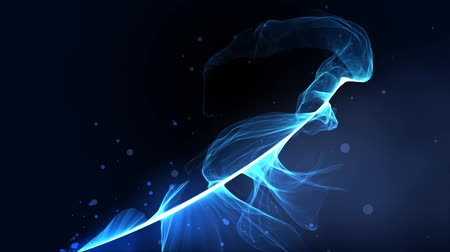 flowing lines : blue fire particle splash - dancing particle stream abstract motion backgrounds