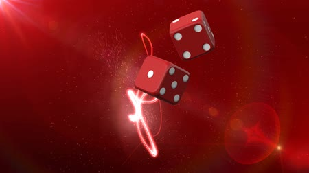 kazık : Red Casino Dice Red Background  3d Animated Computer Design Abstract Background