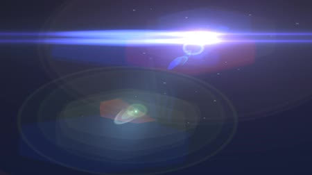 flaş : Blue Abstract Motion Background with Lines and Lens Flares - hd 1080p loop