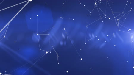 pontos : Abstract Motion Background Constellation of Lines and Points