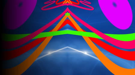 Пейсли : Psychedelic Colorful Pop Art Abstract Motion Backgrounds For Music Videos Стоковые видеозаписи