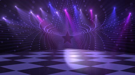 ayarlamak : Virtual Studio Disco Dance Floor - for use with music videos Stok Video