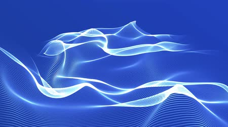 futuristic vector cloud abstract blue background Стоковые видеозаписи