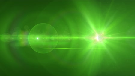 свечение : bright green light flares abstract background
