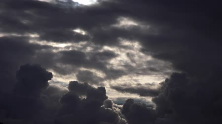 impending : dark storm clouds gathering Stock Footage