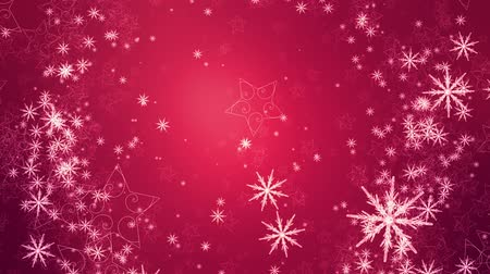 feliz natal : red festive holiday snowy background