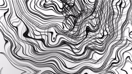 řádek : random wavy black lines white background