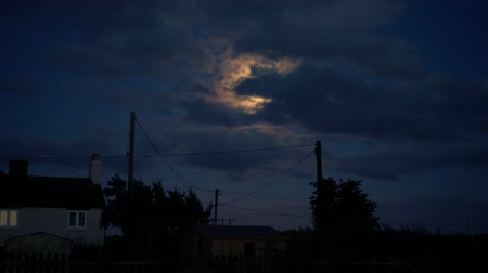 wipe away : night time with moonlight and clouds