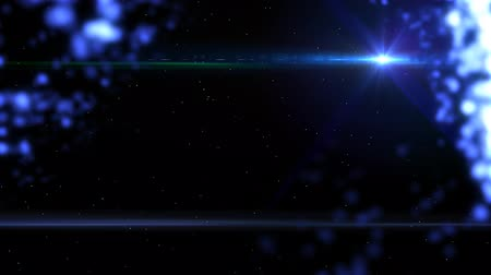 repousante : cool blue space particles abstract background Stock Footage