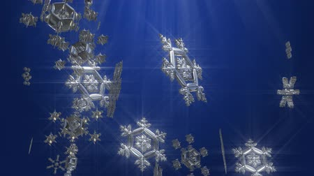 mezun : snowflakes animation abstract background