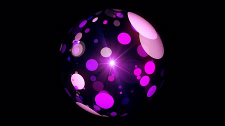 esferas : abstract sphere of moving stars black background Stock Footage