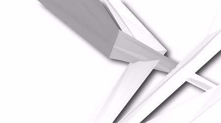 faceted : slow moving white polygon background Stock Footage