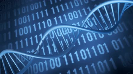 dna strand technology background Стоковые видеозаписи