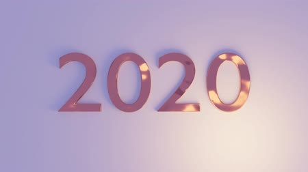 3d rendering light moving around number 2020
